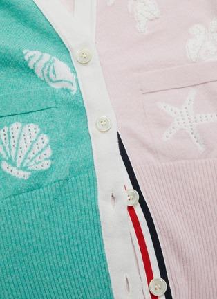 - THOM BROWNE - Ocean intarsia cashmere cardigan