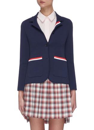 Main View - Click To Enlarge - THOM BROWNE - Stripe Pocket Jacket