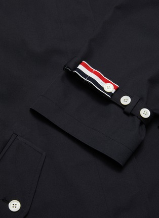 - THOM BROWNE - Belted raglan waterproof cotton twill trench coat