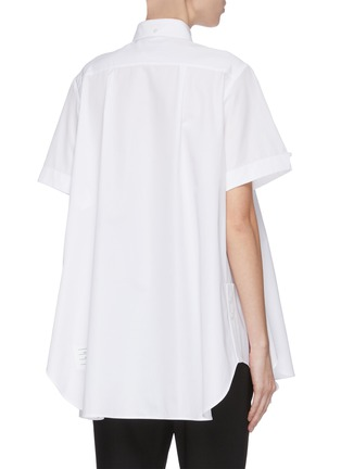 Back View - Click To Enlarge - THOM BROWNE - Oversized circle shirt dress