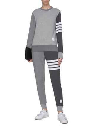 Figure View - Click To Enlarge - THOM BROWNE - 'Fun-Mix' bar stripe crewneck sweatshirt