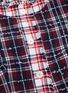 - THOM BROWNE - Frayed contrast check tweed jacket