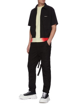 Figure View - Click To Enlarge - AMBUSH - Pocket zip logo embroidered shirt