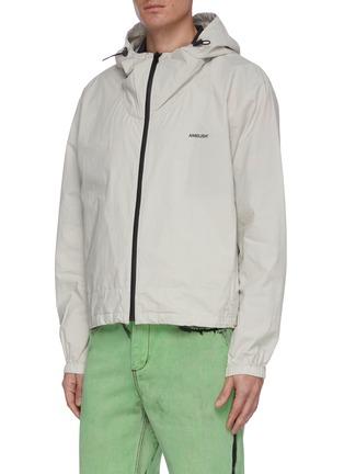 Front View - Click To Enlarge - AMBUSH - Logo zip up hood jacket