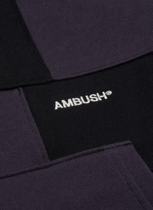 - AMBUSH - Panelled logo embroidered hoodie