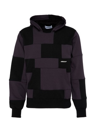 Main View - Click To Enlarge - AMBUSH - Panelled logo embroidered hoodie