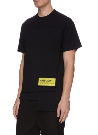 Front View - Click To Enlarge - AMBUSH - Logo patch pocket T-shirt