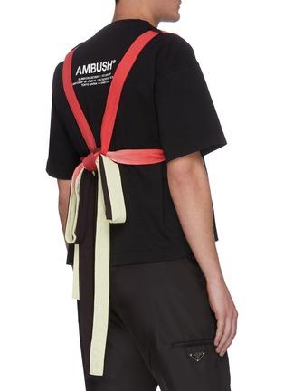 Back View - Click To Enlarge - AMBUSH - Contrast straps T-shirt