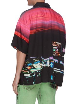 Back View - Click To Enlarge - AMBUSH - Dekotora print bowling shirt