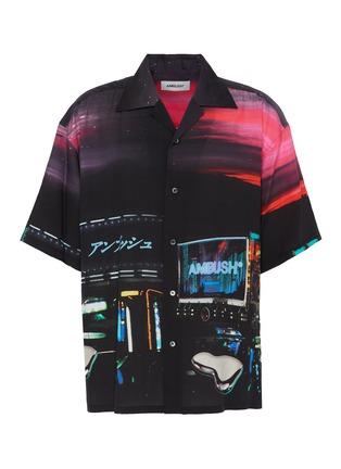 Main View - Click To Enlarge - AMBUSH - Dekotora print bowling shirt