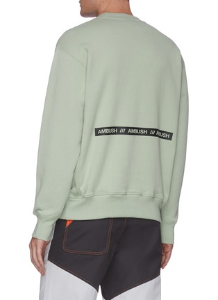 Back View - Click To Enlarge - AMBUSH - Logo print sweatshirt