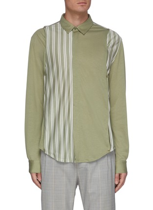 Main View - Click To Enlarge - UNCENSORED - Classic panelled stripe shirt