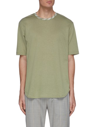 Main View - Click To Enlarge - UNCENSORED - Stripe crewneck T-shirt
