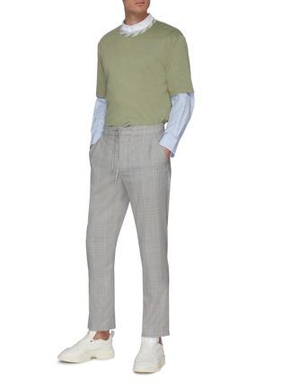 Figure View - Click To Enlarge - UNCENSORED - Stripe crewneck T-shirt