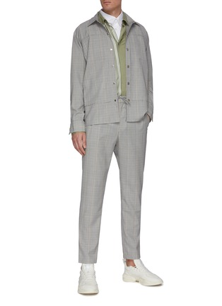Figure View - Click To Enlarge - UNCENSORED - Tartan straight leg pants