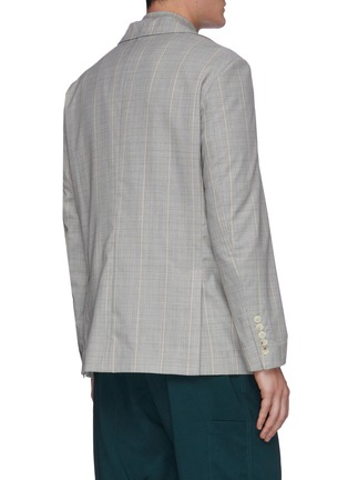 Back View - Click To Enlarge - UNCENSORED - Military tartan blazer