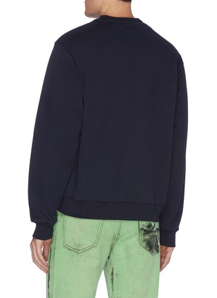 Back View - Click To Enlarge - MARTINE ROSE - Slogain embroidered sweatshirt