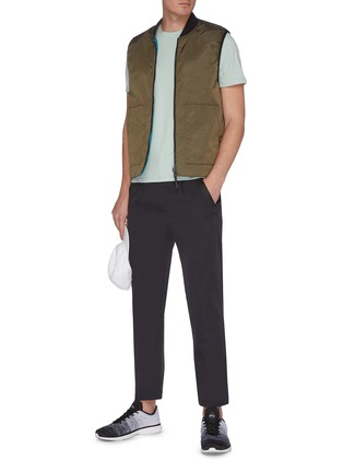 Figure View - Click To Enlarge - PARTICLE FEVER - Quick dry ribbon outseam pants