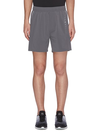 Main View - Click To Enlarge - PARTICLE FEVER - Quickdry stripe outseam running shorts