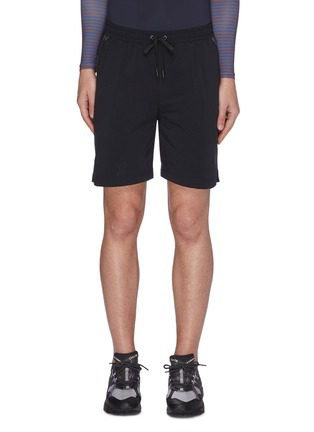 Main View - Click To Enlarge - PARTICLE FEVER - Quick dry stripe outseam running shorts