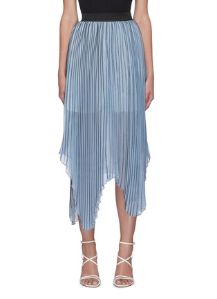 Main View - Click To Enlarge - C/MEO COLLECTIVE - Check print pleated midi skirt
