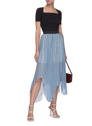 Figure View - Click To Enlarge - C/MEO COLLECTIVE - Check print pleated midi skirt