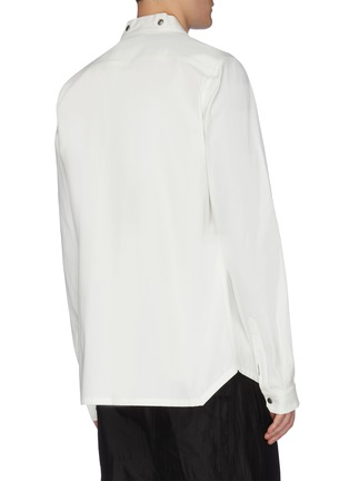 Back View - Click To Enlarge - RICK OWENS - 'Larry' snap button collarless shirt