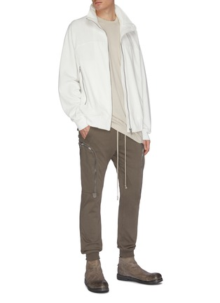 Figure View - Click To Enlarge - RICK OWENS - Zip front track jacket