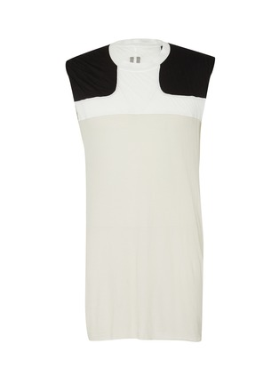 Main View - Click To Enlarge - RICK OWENS - Release Combo Lupetto' sheer panel tank top