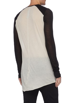 Back View - Click To Enlarge - RICK OWENS - 'Dustulator' colourblock panelled top