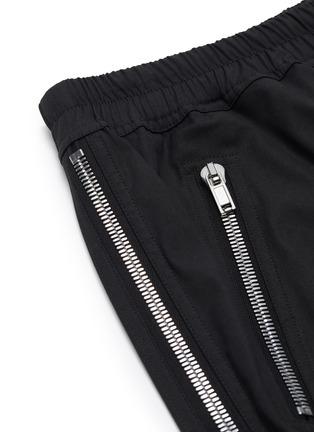 - RICK OWENS - 'Tecuatl' drawstring side zip track pants