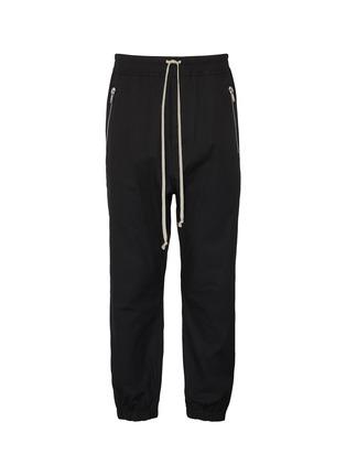 Main View - Click To Enlarge - RICK OWENS - 'Tecuatl' drawstring side zip track pants