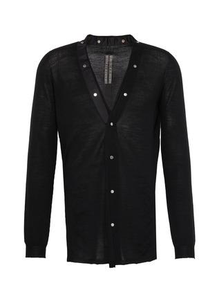 Main View - Click To Enlarge - RICK OWENS - V-neck snap wool cardigan