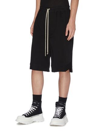 Front View - Click To Enlarge - RICK OWENS - 'Karloff' drawstring boxer shorts