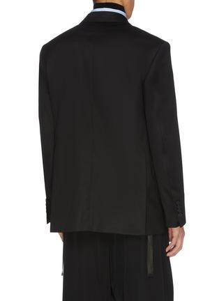 Back View - Click To Enlarge - JUUN.J - Peak lapel wool blazer