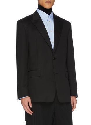Front View - Click To Enlarge - JUUN.J - Peak lapel wool blazer