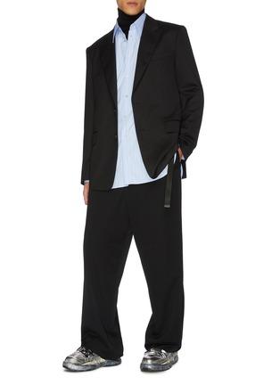 Figure View - Click To Enlarge - JUUN.J - Peak lapel wool blazer