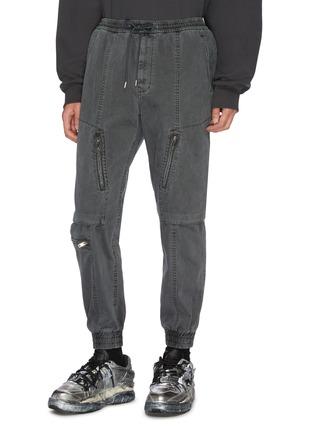 Front View - Click To Enlarge - JUUN.J - Elasticated waist hardware detail cargo pants