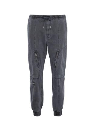 Main View - Click To Enlarge - JUUN.J - Elasticated waist hardware detail cargo pants
