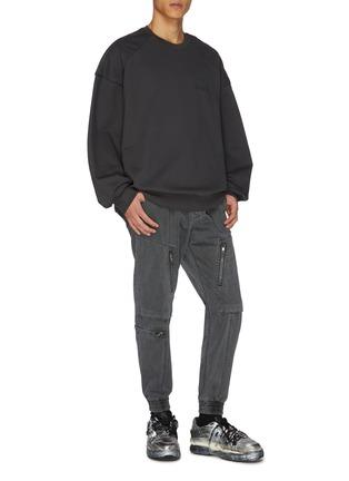 Figure View - Click To Enlarge - JUUN.J - Elasticated waist hardware detail cargo pants