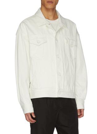 Detail View - Click To Enlarge - JUUN.J - Hooded denim jacket