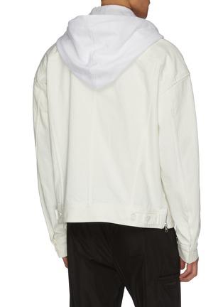 Back View - Click To Enlarge - JUUN.J - Hooded denim jacket