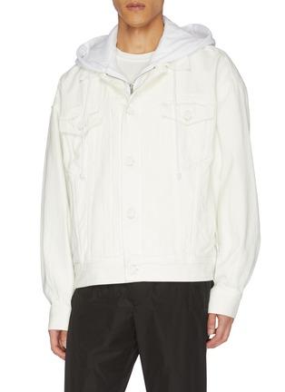 Front View - Click To Enlarge - JUUN.J - Hooded denim jacket
