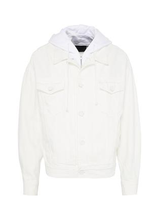 Main View - Click To Enlarge - JUUN.J - Hooded denim jacket