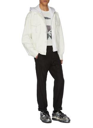 Figure View - Click To Enlarge - JUUN.J - Hooded denim jacket