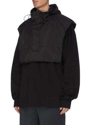 Front View - Click To Enlarge - JUUN.J - Hooded crop vest
