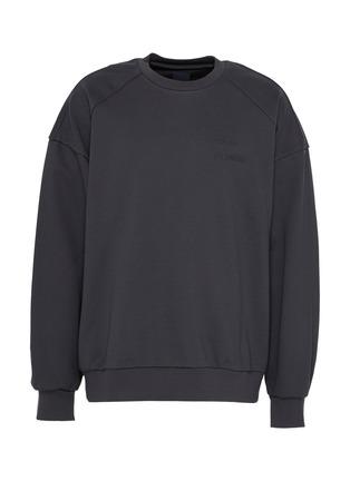 Main View - Click To Enlarge - JUUN.J - Photographic slogan print sweatshirt