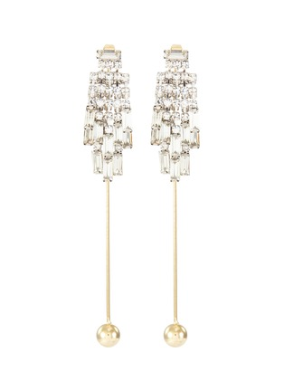 Main View - Click To Enlarge - VENNA - Glass crystal ball drop earrings