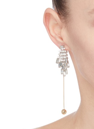 Figure View - Click To Enlarge - VENNA - Glass crystal ball drop earrings