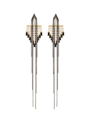 Main View - Click To Enlarge - VENNA - Detachable crystal fringe drop earrings